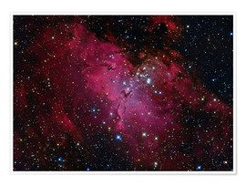 Premium poster Messier 16, The Eagle Nebula in Serpens.