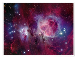 Premium poster The Orion Nebula with reflection nebula NGC 1977