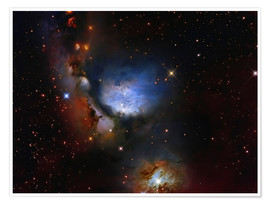 Premium poster Messier 78, a reflection nebula in the constellation Orion.