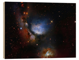 Wood print  Messier 78, a reflection nebula in the constellation Orion. - Roberto Colombari