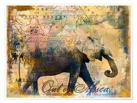 Poster  Out of Africa - Andrea Haase