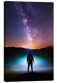 Canvas print  Milky way headlamp portrait - Matthias Köstler