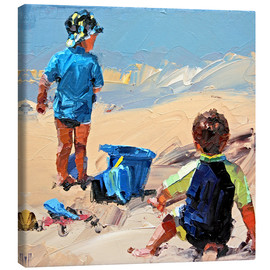 Canvas print  To play in the sand - Claire McCall