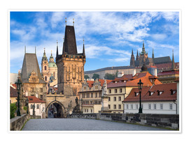 Premium poster  Prague Castle and Old Town in summer - Jan Christopher Becke