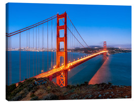 Canvas print  Night shot of the Golden Gate Bridge in San Francisco California, USA - Jan Christopher Becke