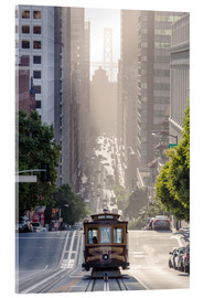 Acrylic print  Cable car in San Francisco - Matteo Colombo