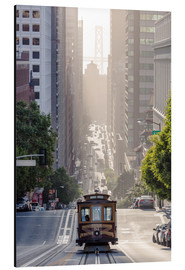 Aluminium print  Cable car in San Francisco - Matteo Colombo