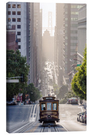 Canvas  Cable car in San Francisco - Matteo Colombo