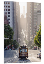Foam board print  Cable car in San Francisco - Matteo Colombo