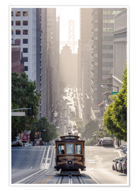 Poster  Cable car in San Francisco - Matteo Colombo