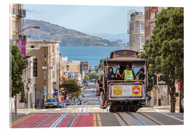 Acrylic glass  Cable car on a hill in the streets of San Francisco, California, USA - Matteo Colombo