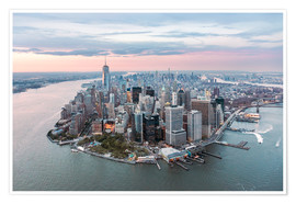 Premium poster Aerial view of lower Manhattan, New York