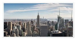 Premium poster Manhattan skyline with Empire State Building