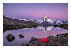 Premium poster  Sunrise at Matterhorn - Valais, Switzerland - Achim Thomae