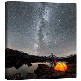 Canvas print  Milky Way at Matterhorn - Dieter Meyrl