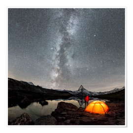 Premium poster Milky Way at Matterhorn