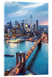 Acrylic print  Brooklyn bridge and lower Manhattan - Matteo Colombo