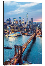 Aluminium print  Brooklyn bridge and lower Manhattan - Matteo Colombo