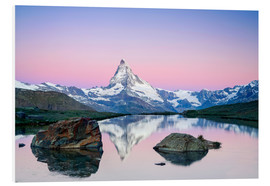 Foam board print  Sunrise at Matterhorn - Dieter Meyrl