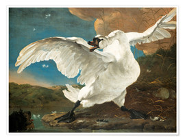 Poster  The Threatened Swan - Jan Asselijn