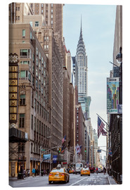 Canvas print  Road at the Chrysler Building - Matteo Colombo
