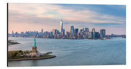Aluminium print  New York skyline with Statue of Liberty - Matteo Colombo