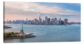 Canvas  New York skyline with Statue of Liberty - Matteo Colombo
