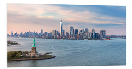 Foam board print  New York skyline with Statue of Liberty - Matteo Colombo