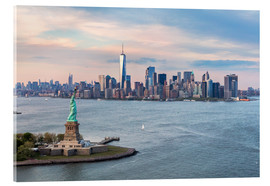 Acrylic print  Statue of Liberty and World Trade Center, New York City - Matteo Colombo