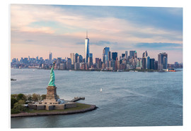 Foam board print  Statue of Liberty and World Trade Center, New York City - Matteo Colombo