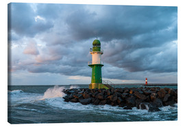 Canvas print  Mole in Warnemuende on the Baltic Sea coast - Rico Ködder