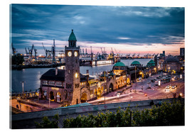 Acrylic print  Evening Mood  Harbor Hamburg - Sören Bartosch