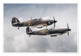Premium poster BBMF SPit and Hurry
