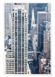 Premium poster Elevated view of 5th avenue, Manhattan, New York city, USA