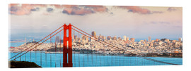 Acrylic print  Panoramic sunset over Golden gate bridge and San Francisco bay, California, USA - Matteo Colombo