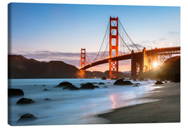 Canvas print  Golden Gate Bridge mystical - Matteo Colombo
