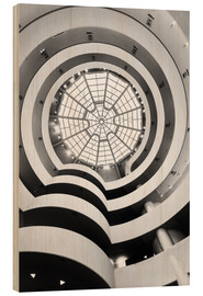 Wood print  Guggenheim Museum, New York - Matteo Colombo