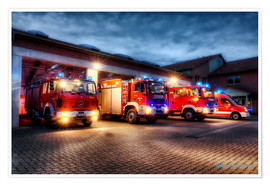 Poster  German Firetrucks - Markus Will