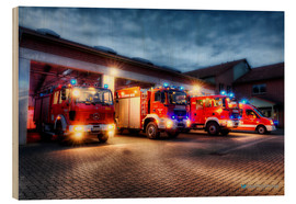 Wood print  German Firetrucks - Markus Will
