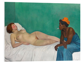 Foam board print  La blanche et la noire (Black and White) - Felix Edouard Vallotton