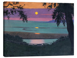 Canvas print  sunset - Felix Edouard Vallotton
