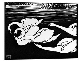 Acrylic glass  The swans - Felix Edouard Vallotton