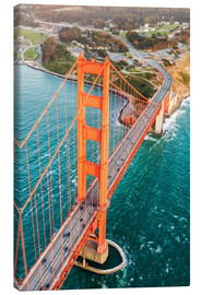 Canvas print  Flying over Golden gate bridge, San Francisco, California, USA - Matteo Colombo