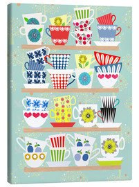 Canvas print  Shelf of Scandinavian cups - Elisandra Sevenstar