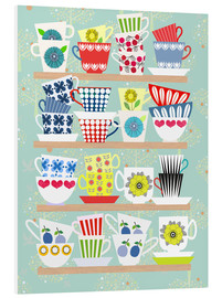 Foam board print  Shelf with Scandinavian cups - Elisandra Sevenstar