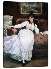 Canvas print  The rest or Portrait of Berthe Morisot - Edouard Manet