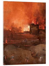 Acrylic print  The Last Judgement, Hell (detail) - Hieronymus Bosch