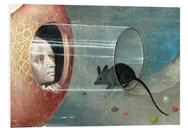 Foam board print  Garden of Earthly Delights, mankind before the Flood (detail) - Hieronymus Bosch