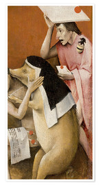 Premium poster  Garden of Earthly Delights, Hell (detail) - Hieronymus Bosch