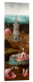 Acrylic print  The Last Judgement, the earthly paradise - Hieronymus Bosch